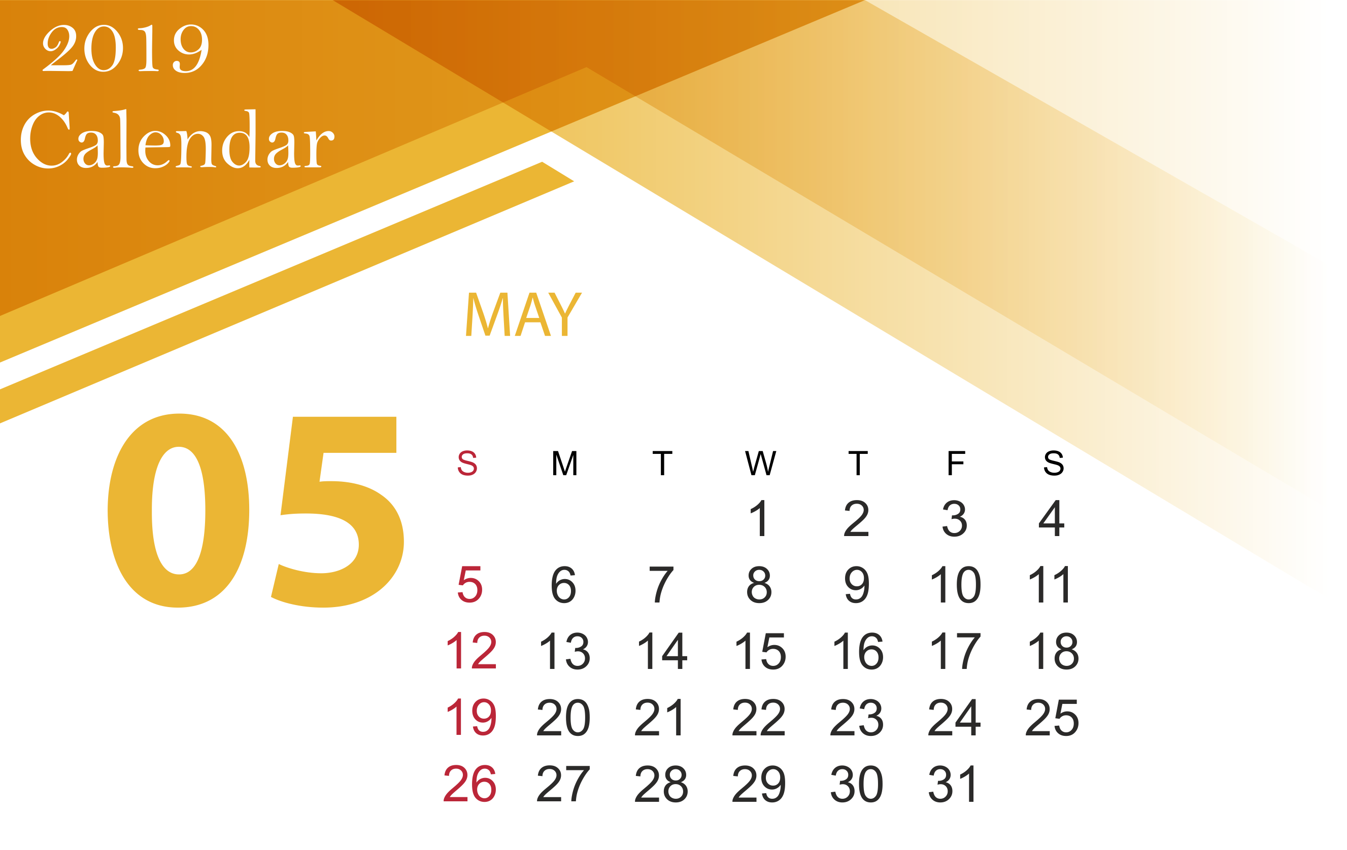 May June 2019 Printable Calendar