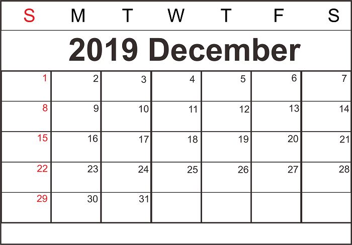 picture about Printable December Calendar With Holidays titled Printable December and January 2019-20 Calendar with