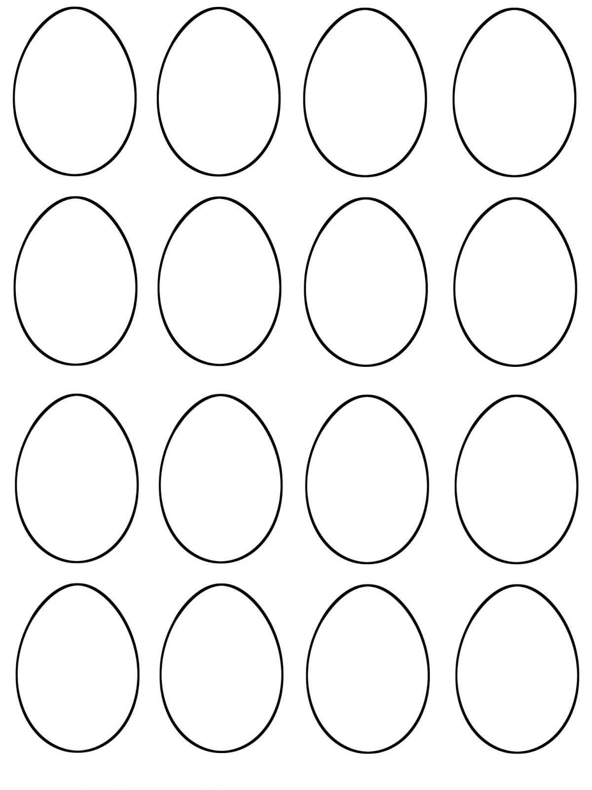 graphic about Easter Egg Template Printable called 5+ Absolutely free Printable Easter Egg Templates Printable Template