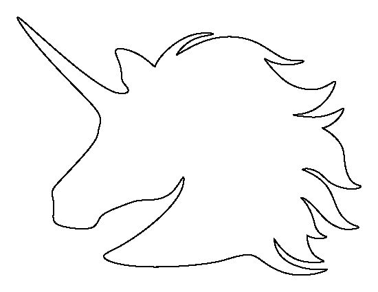 Unicorn Head Template