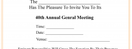 Professional Business Meeting Invitation Sample
