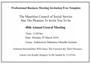 Professional Business Meeting Invitation Free Templates