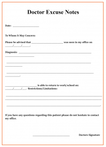 Doctors Excuse Note PDF