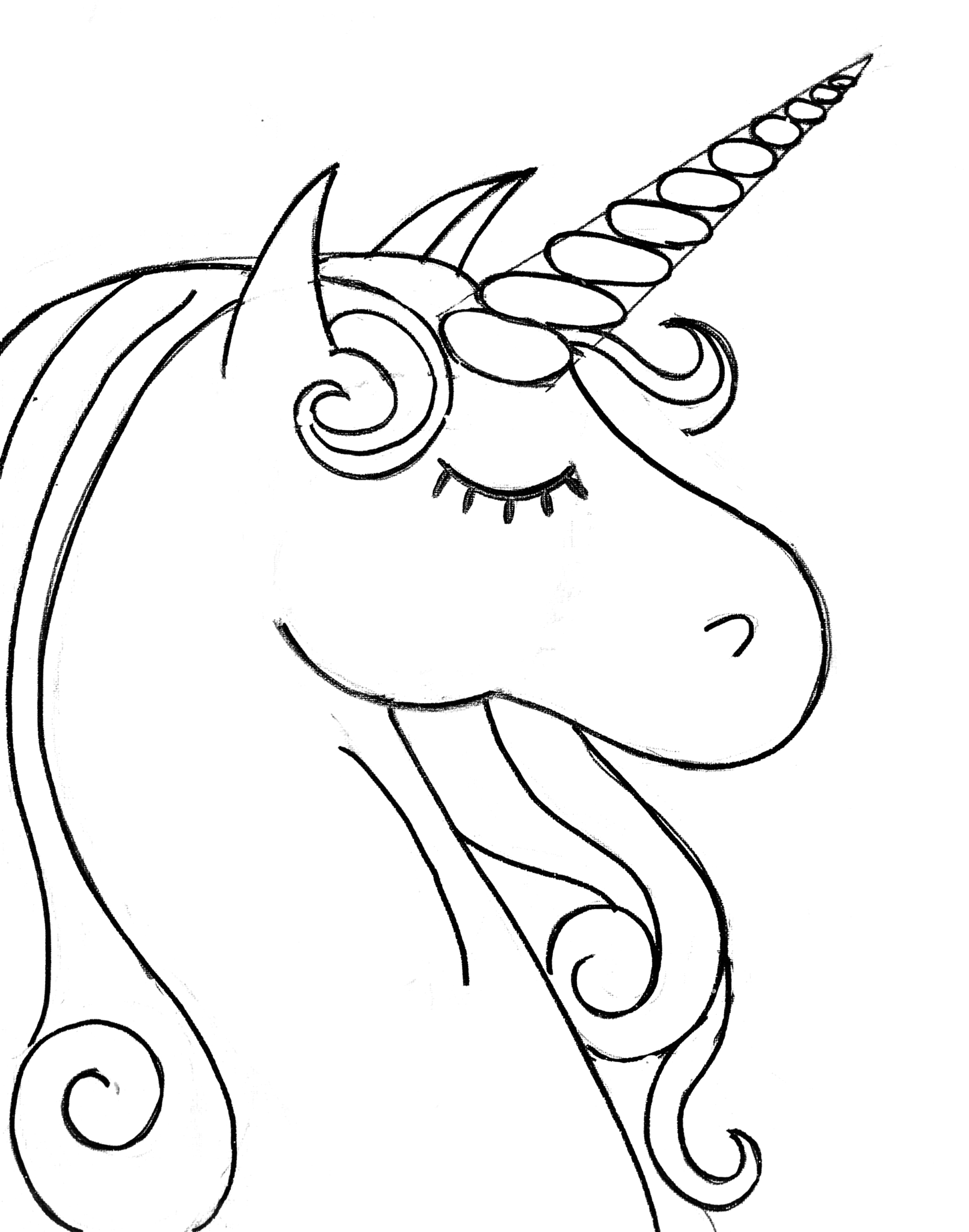 Unicorn Template Printable