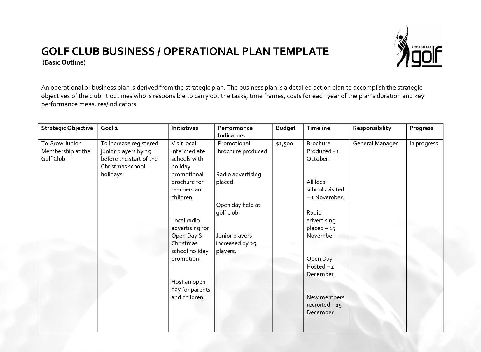 Business Operational Plan PDF