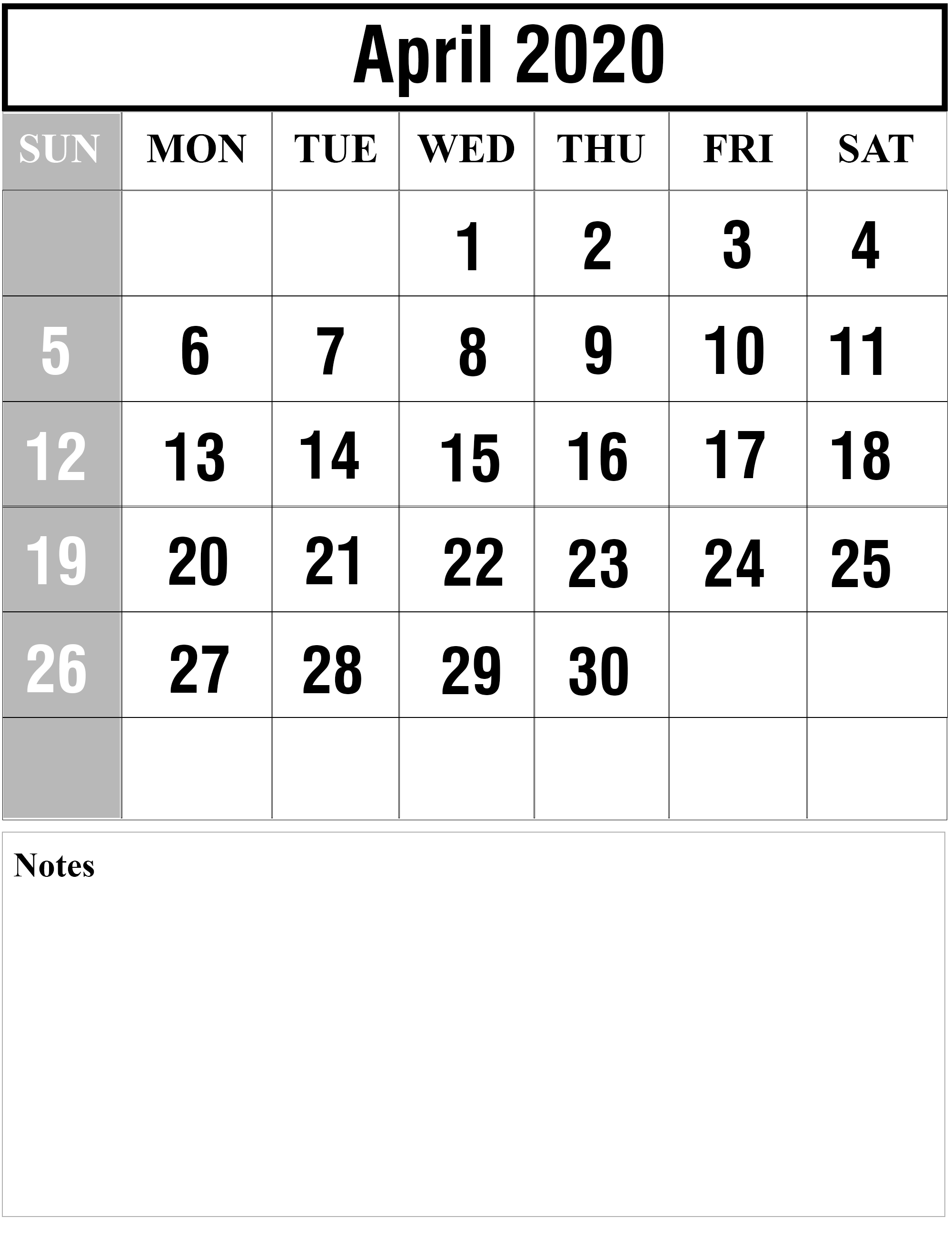 April 2020 Printable Calendar Pdf april 2020 1 | Printable Template Calendar