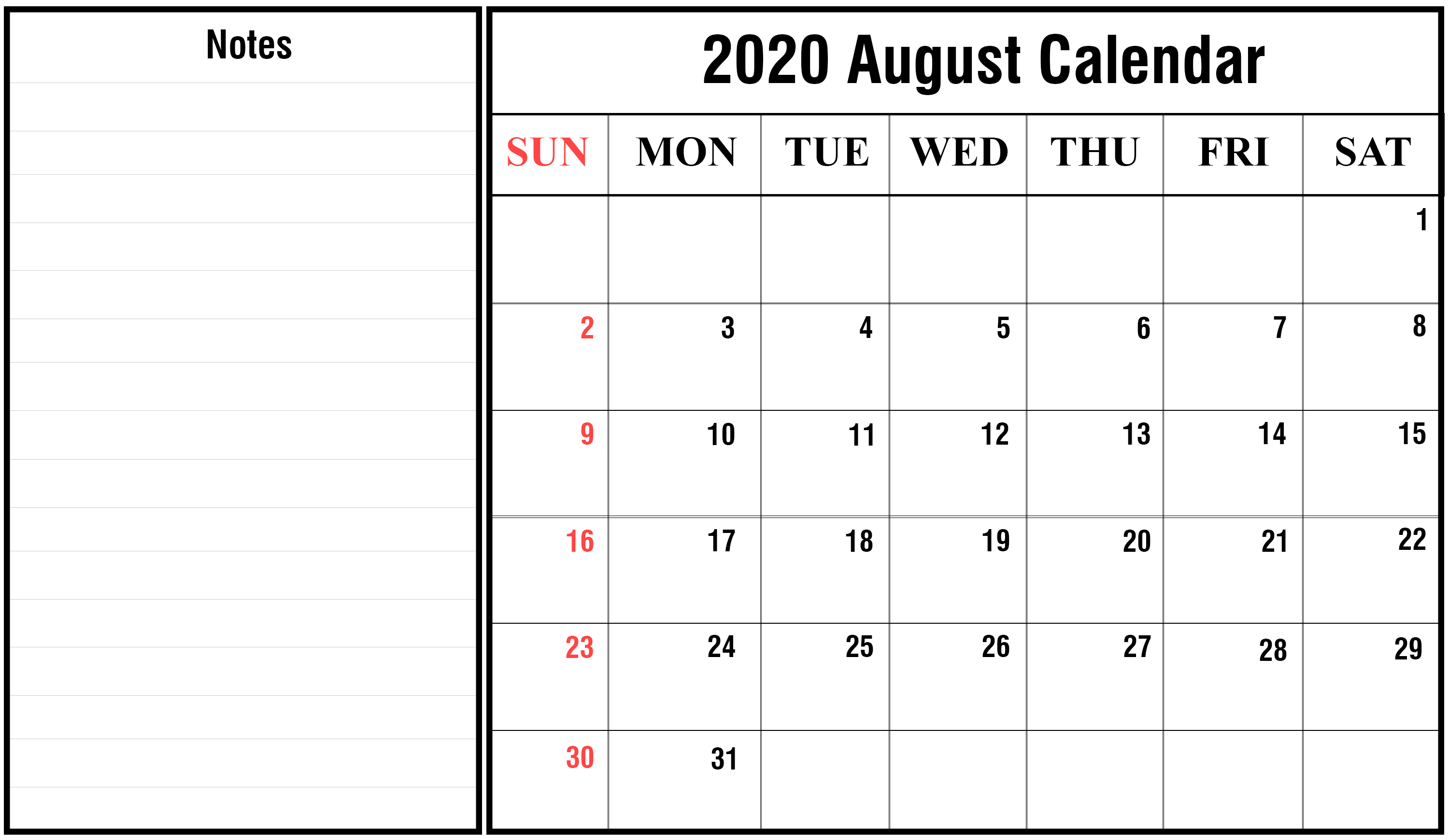 It is a photo of Geeky Printable August 2020