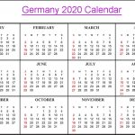 Printable German Calendar 2020