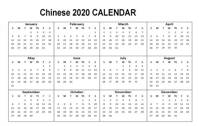 Public Holidays 2020 in China