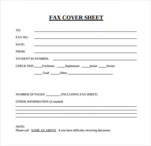 Personal Generic Fax Cover Sheet